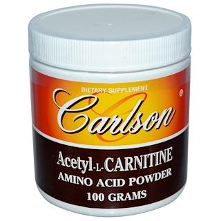 Carlson Labs, 아세틸-L-카르니틴, 아미노산 파우더, 3.53 oz (100 g)