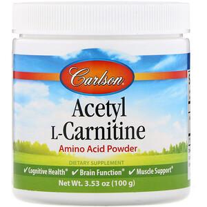 Карлсон Лэбс, Acetyl L-Carnitine, Amino Acid Powder, 3.53 oz (100 g) отзывы