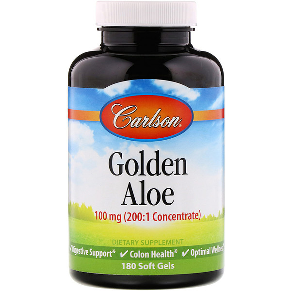 Golden Aloe, 100 mg, 180 Soft Gels