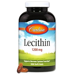 Carlson Labs, Lecithin, 1200 mg, 300 Soft Gels