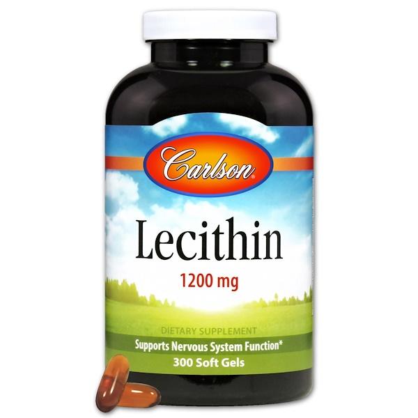 Carlson Labs, Lecithin, 1200 mg, 300 Soft Gels