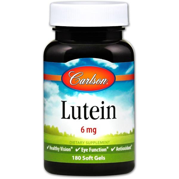 Carlson Labs, Lutein, 6 mg, 180 Soft Gels