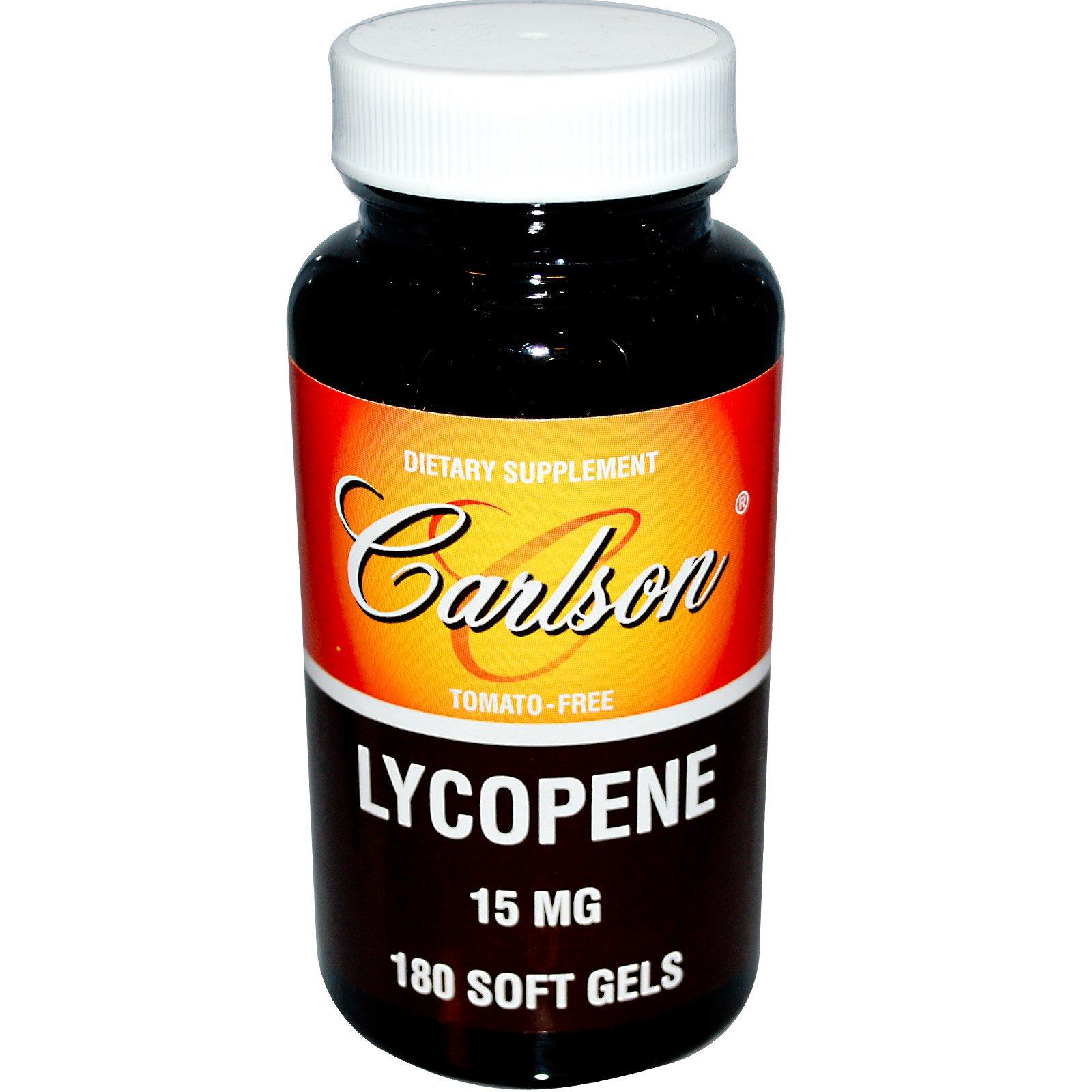 Carlson Labs, Ликопин, 15 мг, 180 мягких капсул