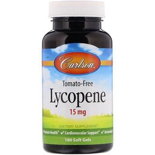 Carlson Labs, Licopeno, 15 mg, 180 Cápsulas Gelatinosas