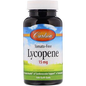 Карлсон Лэбс, Lycopene, 15 mg, 180 Soft Gels отзывы