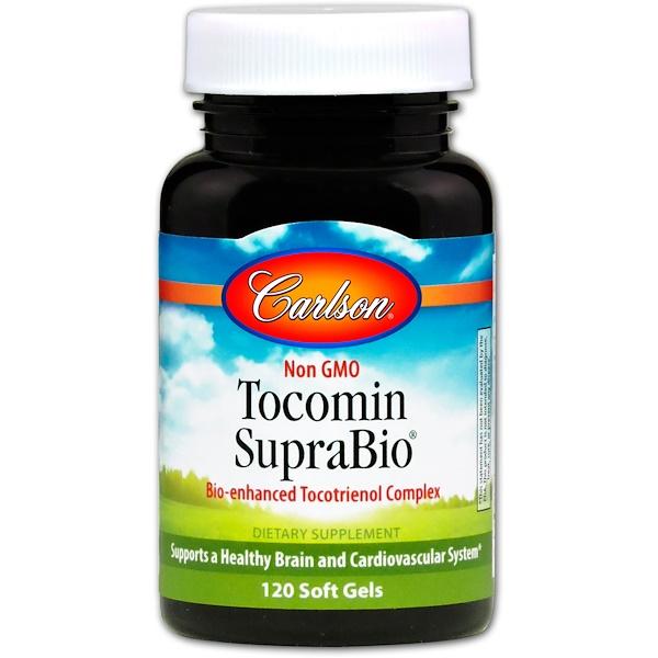 Carlson Labs, Tocomin SupraBio、ソフトジェル120 錠