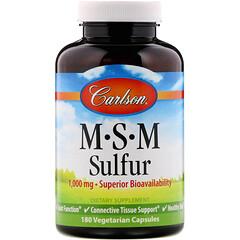 Carlson Labs, MSM 硫,1,000 毫克,180 粒素食膠囊