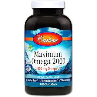 Carlson Labs, Омега Maximum 2000, 2 000 мг, 180 капсул