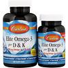 Комплекс омега-3 и витаминов D и K, натуральный вкус лимона, 60 мягких таблеток + 30 таблеток бесплатно