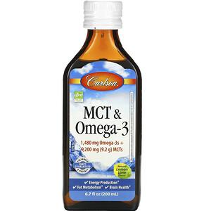 Карлсон Лэбс, MCT & Omega-3, Natural Lemon Lime,  6.7 fl oz (200 ml) отзывы