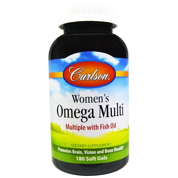 Carlson Labs, Women's Omega Multi, Multiple with Fish Oil, 180 Soft Gels (Discontinued Item)