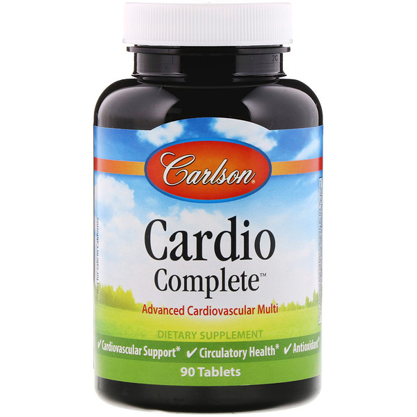Carlson Labs, Cardio Complete, Advanced Cardiovascular Multi, 90 Tablets