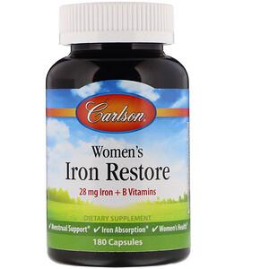 Карлсон Лэбс, Women's Iron Restore, 180 Capsules отзывы