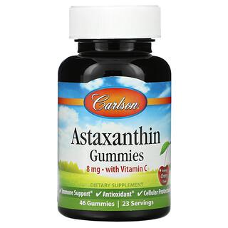 Carlson Labs, Astaxanthin Gummies with Vitamin C, Natural Cherry, 4 mg, 46 Gummies