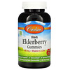 Carlson Labs, Black Elderberry Gummies + Vitamin C & Zinc, Natural Berry, 50 mg, 120 Vegetarian Gummies