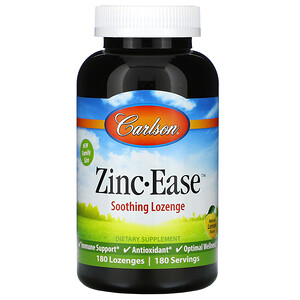 Carlson Labs, Zinc-Ease, Natural Lemon, 180 Lozenges'