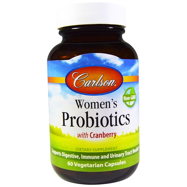 Carlson Labs, Women's Probiotics, Cranberry, 60 Veggie Caps (Discontinued Item)