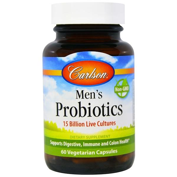 Carlson Labs, Men's Probiotics, 60 Veggie Caps (Discontinued Item)