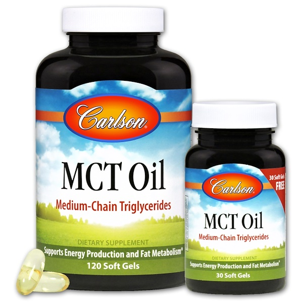 Carlson Labs, MCT Oil, 120 + 30 Free Soft Gels (Discontinued Item)
