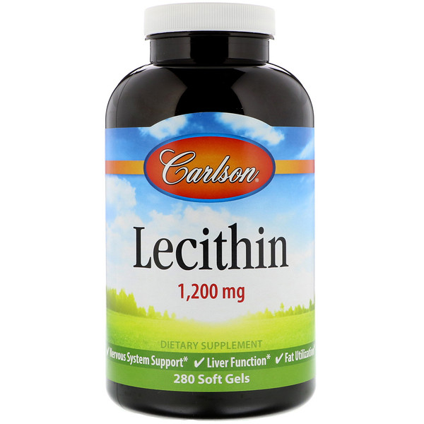 Carlson Labs, Lecithin, 1,200 mg, 280 Soft Gels