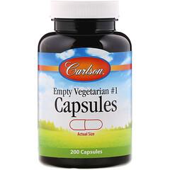 Carlson Labs, Empty Vegetarian#1 膠囊,200 粒膠囊