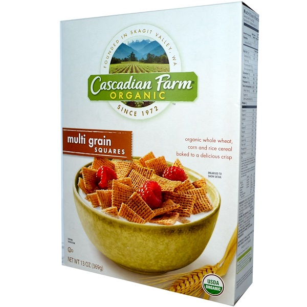 Cascadian Farm, Organic, Multi Grain Squares, 13 oz (369 g) (Discontinued Item)