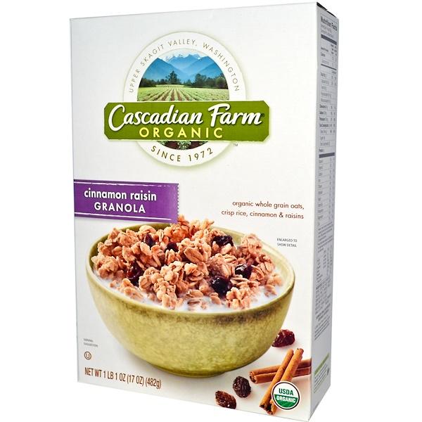 Cascadian Farm, Organic, Granola, Cinnamon Raisin, 17 oz (482 g) (Discontinued Item)