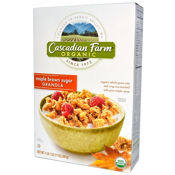 Cascadian Farm, Organic, Granola, Maple Brown Sugar, 17 oz (481 g) (Discontinued Item)