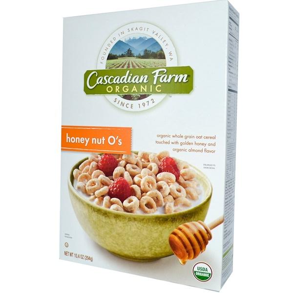 Cascadian Farm, Organic Whole Grain Oat Cereal, Honey Nut O's, 10.4 oz (294 g) (Discontinued Item)