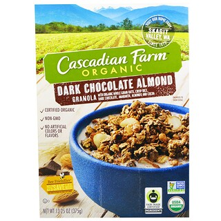 Cascadian Farm, Organic, Granola, Dark Chocolate Almond, 13.25 oz (375 g)