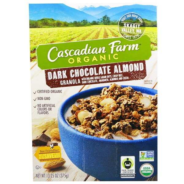 Organic, Granola, Dark Chocolate Almond, 13.25 oz (375 g)