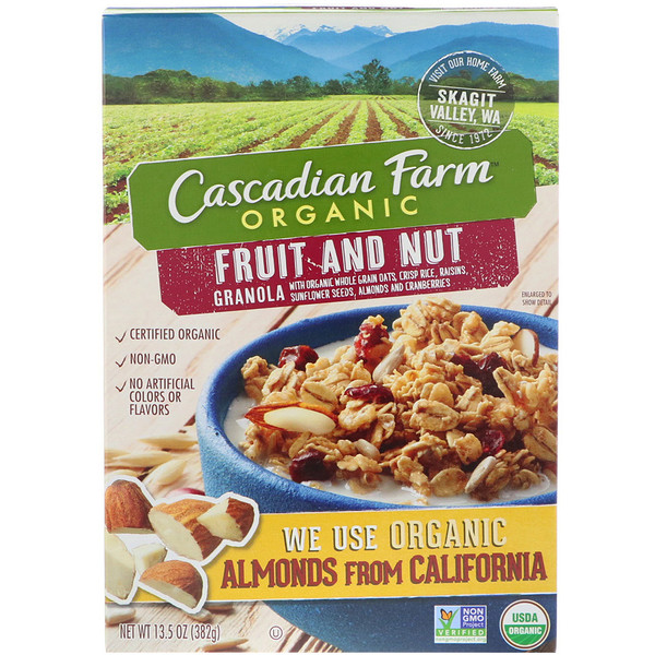 Cascadian Farm, Granola bio, fruits et noix, 13.5 oz (382 g)