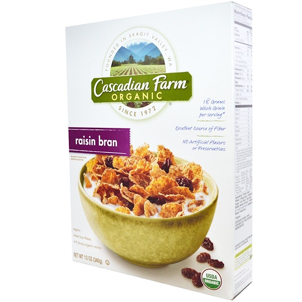 Cascadian Farm, Organic Raisin Bran Cereal, 12 oz (340 g) (Discontinued Item)