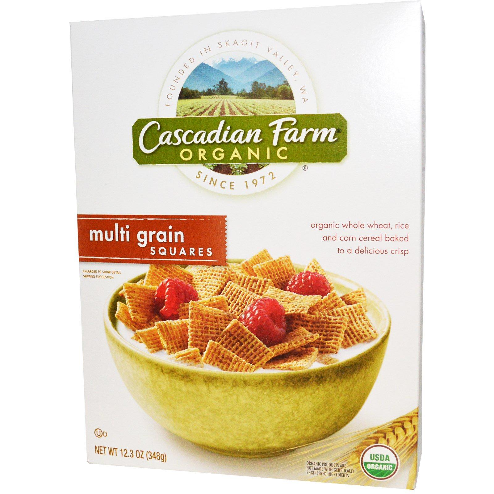 Cascadian Farm, Органические мультизерновые квадратики, 348 г (12,3 унций)