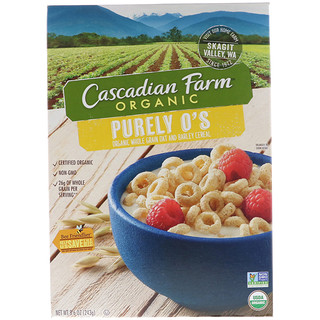 Cascadian Farm, Organic, Purely O's, Organic Whole Grain Oat and Barley Cereal, 8.6 oz (243 g)
