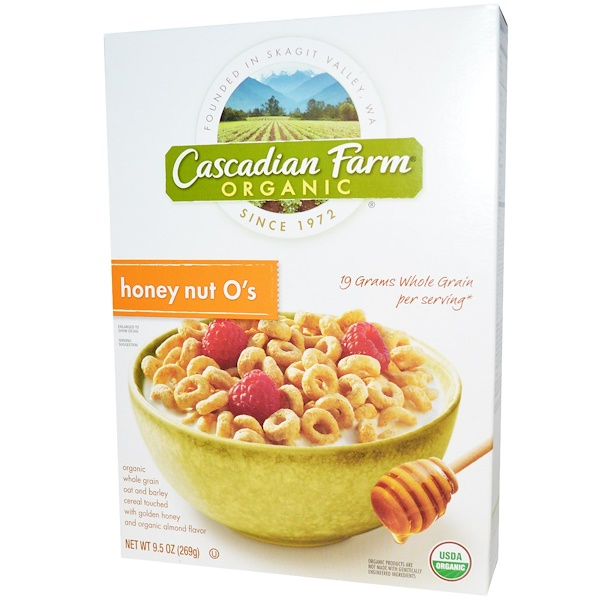 Cascadian Farm, Organic, Honey Nut O's, 9.5 oz (269 g)