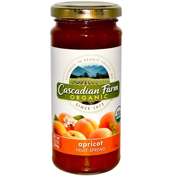 Cascadian Farm, Органический фруктовый спред, абрикос, 10 унций (284 г) (Discontinued Item)