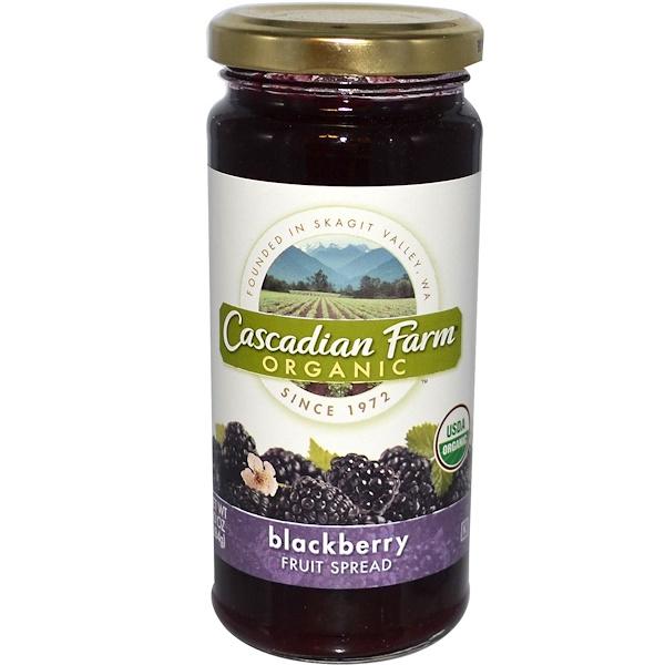Cascadian Farm, Organic, Fruit Spread, Blackberry, 10 oz (284 g) (Discontinued Item)
