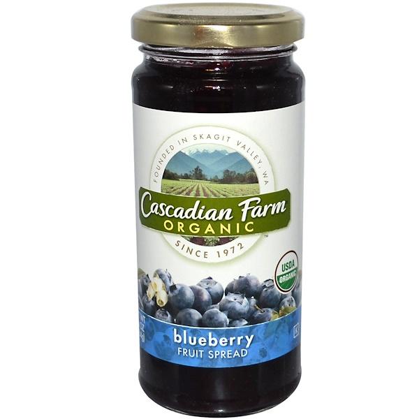 Cascadian Farm, Organic, Fruit Spread, Blueberry, 10 oz (284 g) (Discontinued Item)