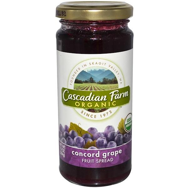 Cascadian Farm, Organic, Fruit Spread, Concord Grape, 10 oz (284 g) (Discontinued Item)
