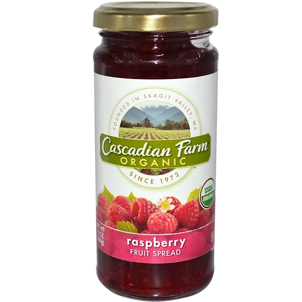 Cascadian Farm, Organic, Fruit Spread, Raspberry, 10 oz (284 g) (Discontinued Item)