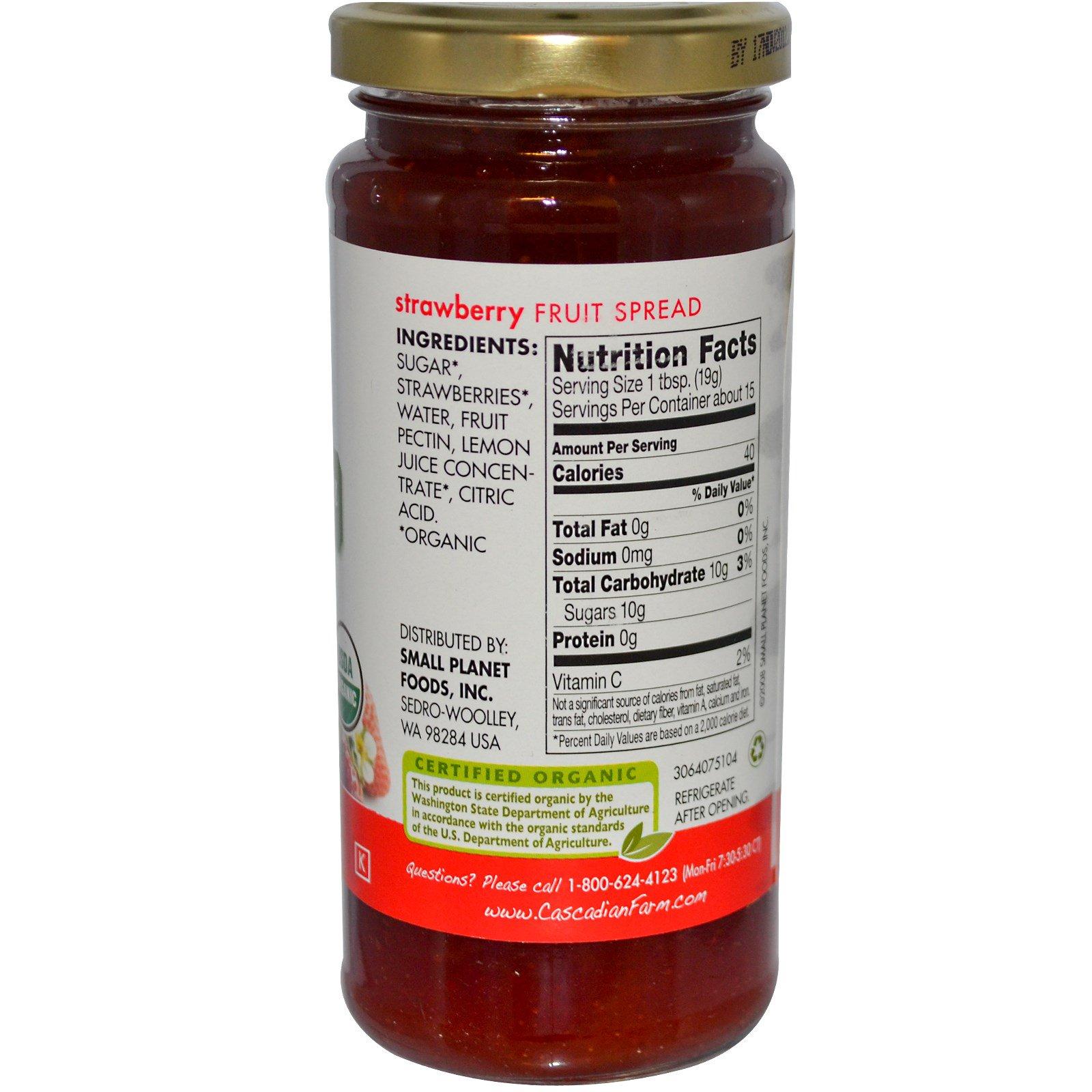Cascadian Farm, Натуральный фруктовый спред, Клубника, 284 г (10 oz)