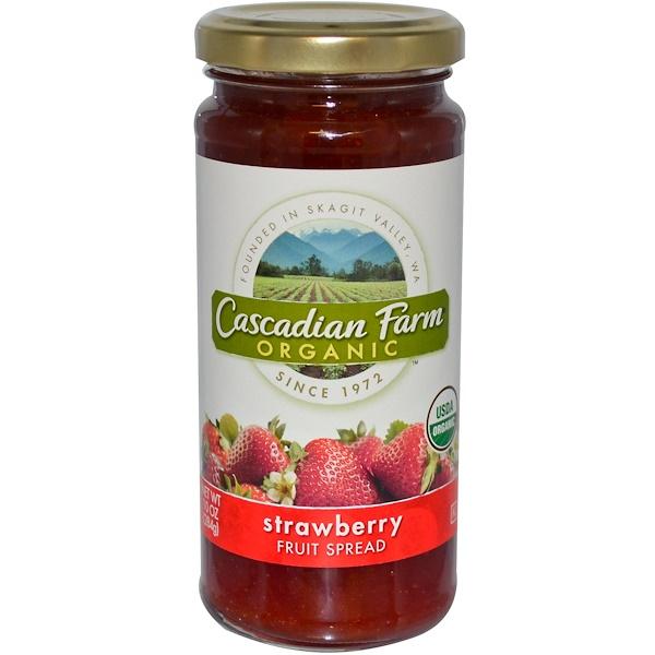 Cascadian Farm, Organic, Fruit Spread, Strawberry, 10 oz (284 g) (Discontinued Item)