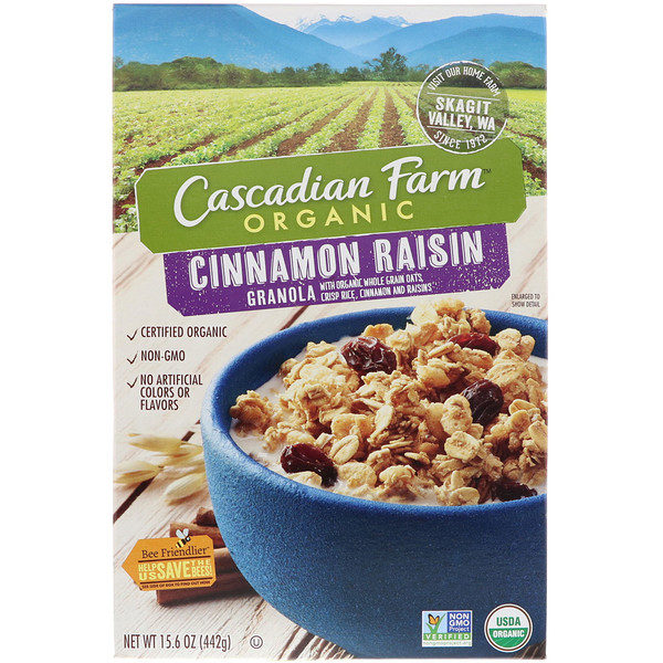 Cascadian Farm, Organic, Cinnamon Raisin Granola, 15.6 oz (442 g) (Discontinued Item)