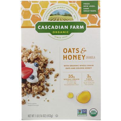 Купить Органическая гранола из овсяной крупы с медом, 16 унций (453 г)