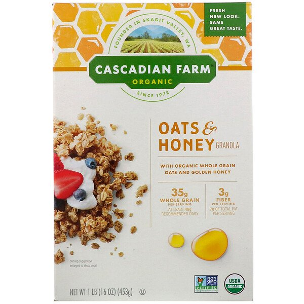 Organic Oats & Honey Granola Cereal, 16 oz (453 g)