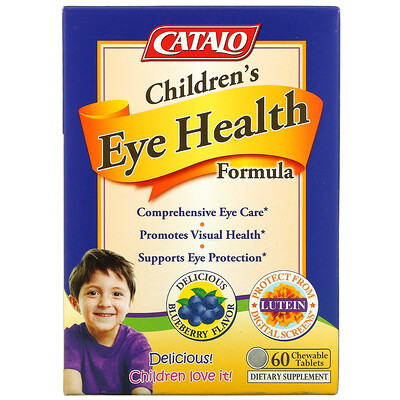 Catalo Naturals Children's Eye Health Formula, Blueberry, 60 Chewable Tablets