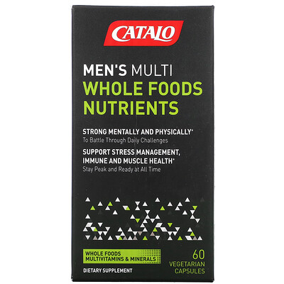 Купить Catalo Naturals Men's Multi, Whole Food Nutrients, 60 Vegetarian Capsules