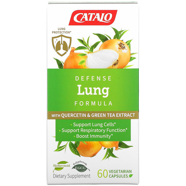 Defense Lung Formula with Quercetin & Green Tea Extract, 60 Vegetarian Capsules