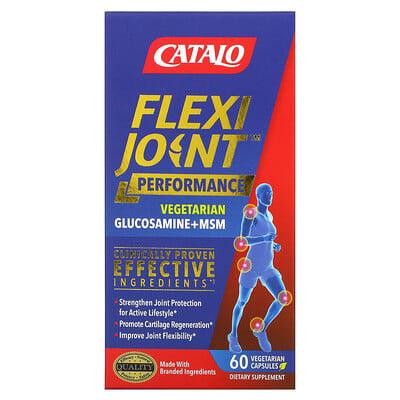 Купить Catalo Naturals FlexiJoint Performance, Glucosamine & OptiMSM, Joint Flexibility, 60 Vegetraian Capsules